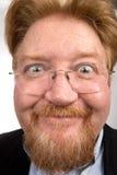 Visage comique drôle d'homme Photos libres de droits