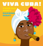 Visage cubain de femme illustration de vecteur