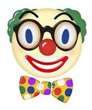 Visage d'Art 3d de clown Photos libres de droits