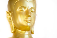 Visage d'or de Bouddha Photographie stock