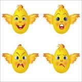 Visage d'emoji de poussin Photographie stock
