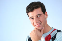 Visage d'homme de sourire Photographie stock