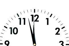 Visage d'horloge Image libre de droits