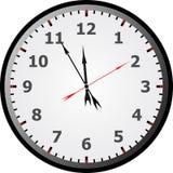 Visage d'horloge Illustration de Vecteur