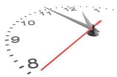 Visage d'horloge avec des nombres Photo libre de droits