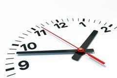 Visage d'horloge avec l'heure, la minute et les occasions illustration stock