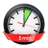 Visage d'horloge avec la minuterie de 5 minutes rendu 3d illustration stock