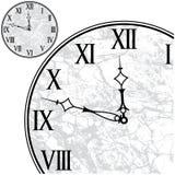 Visage d'horloge avec les chiffres romains Photographie stock
