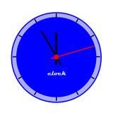 Visage d'horloge bleu. illustration stock