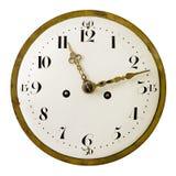 Visage d'horloge de cru Images libres de droits