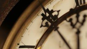 Visage d'horloge de vintage banque de vidéos