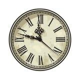 Visage d'horloge de vintage avec les chiffres romains Illustration de vecteur illustration stock