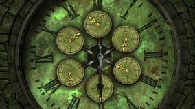 Visage d'horloge de vintage Loopable de coutil illustration libre de droits