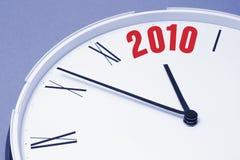 Visage d'horloge et 2010 Image libre de droits