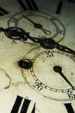 Visage d'horloge fleuri Photo libre de droits