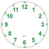 Visage d'horloge fluorescent Images stock