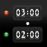 Visage d'horloge numérique de cadran d'heure d'hiver Photo stock
