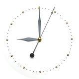 Visage d'horloge sur le fond blanc - calez le concept Images libres de droits