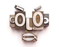 Visage d'impression typographique image libre de droits