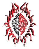 Visage d'incendie de démons Image stock