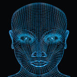 Visage d'ordinateur Images libres de droits