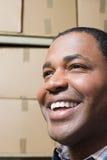 Visage d'un homme de sourire Image libre de droits