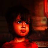 Visage d'un petit garçon dans le rétro style Photographie stock libre de droits