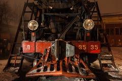 Visage d'un steamtrain Photographie stock