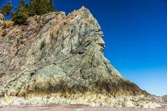 Visage dans la roche sur la baie de Fundy images stock
