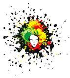 Visage dans les endroits multicolores Image libre de droits