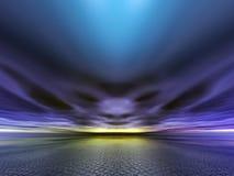Visage dans les nuages Illustration de Vecteur