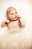 Visage de bébé nouveau-né mignon Images libres de droits
