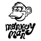Visage de bande dessinée de singe Photo stock
