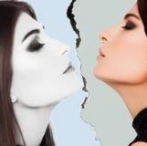 Visage de beauté de femme dans le studio Photographie stock libre de droits
