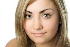 Visage de beauté de verticale de femme Photos libres de droits