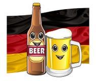 Visage de bière avec le drapeau Image stock