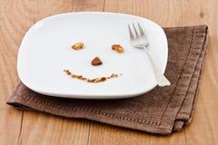 Visage de biscuit Image libre de droits