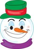 Visage de bonhomme de neige Photo stock