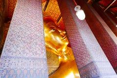 Visage de Bouddha étendu Image libre de droits