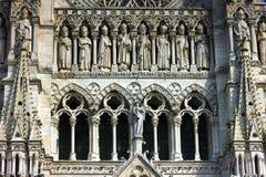 Visage de cathédrale du ` s d'Amiens Images libres de droits