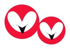 Visage de coeur de dessin animé - vecteur Photographie stock