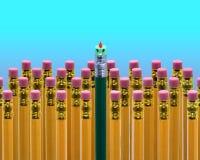 Visage de crayon d'école Photo libre de droits