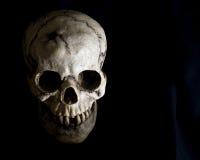 Visage de crâne humain dans l'ombre Photographie stock libre de droits