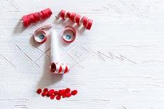 Visage de décoration de carnaval Image libre de droits
