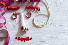 Visage de décoration de carnaval Photos libres de droits