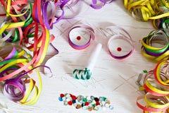 Visage de décoration de carnaval Image stock