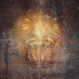 Visage de démon Image libre de droits