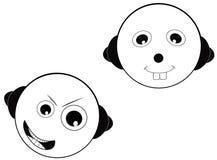 Visage de dessin animé Images stock