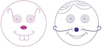 Visage de dessin animé Image libre de droits