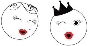 Visage de dessin animé Photographie stock libre de droits